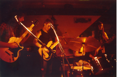 Young Luigis playing a gig