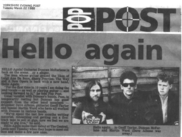 Hello Again Press Cutting